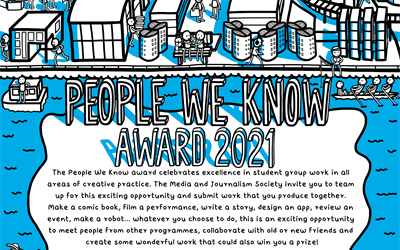 "Poster for ""People We Know"" award 2021"