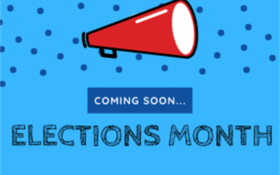 Image says 'coming soon... elections month'