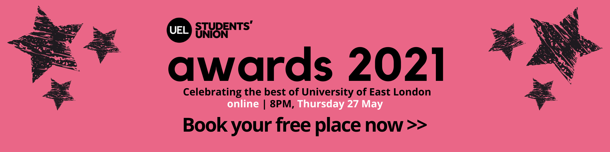 Book your free place at the Students' Union Awards 2021