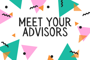 Meet your advisors colourful graphic images